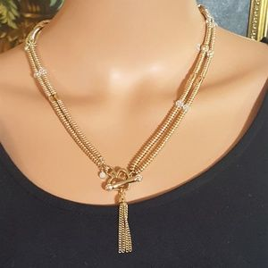 Juicy Couture Gold Plated Tassel Necklace